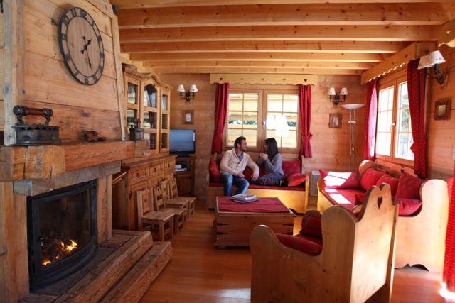 Sala de estar Locação Chalé 1412 Chamonix Mont-Blanc