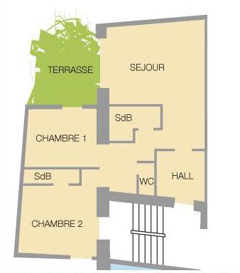 Planta do alojamento Locação Apartamentos 27146 Valloire