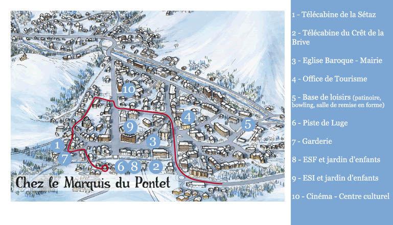 Mapa Locação Apartamentos 27146 Valloire