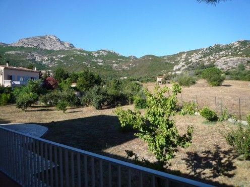 Vista do terraço Locação Vivenda 28209 Calvi