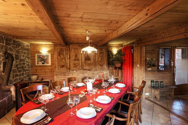 Sala de jantar Locação Chalé 60510 La Clusaz