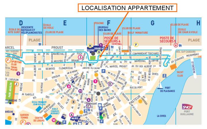 Mapa Locação Apartamentos 63247 Cabourg