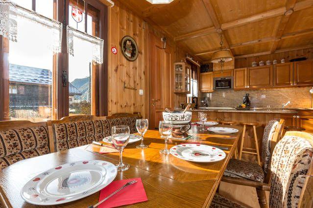 Sala de jantar Locação Apartamentos 647 Chamonix Mont-Blanc