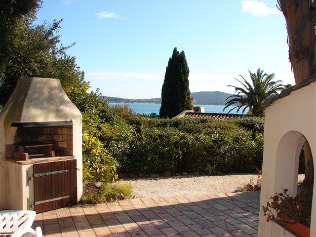 Vista do terraço Locação Casa 93909 Saint Tropez