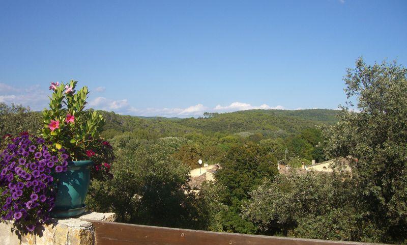 Vista do terraço Locação Casa de turismo rural/Casa de campo 113716 Le Thoronet