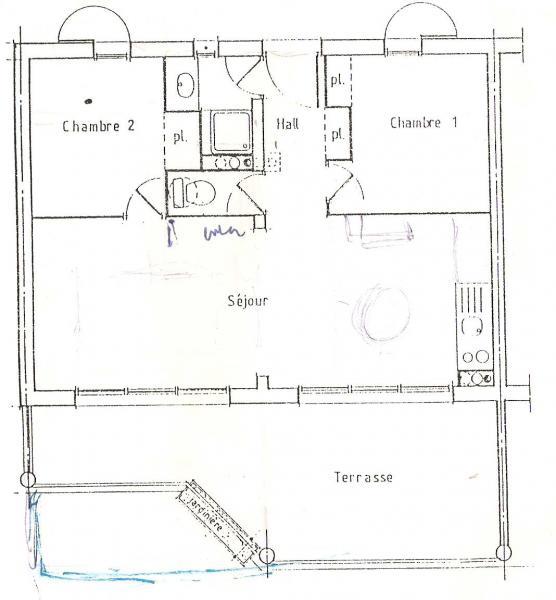 Planta do alojamento Locação Apartamentos 76471 Saint Pierre la Mer