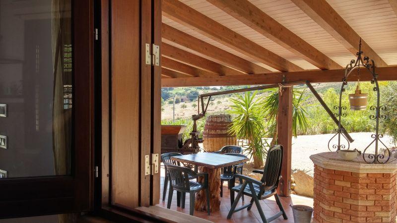 Vista do terraço Locação Vivenda 66027 Scopello