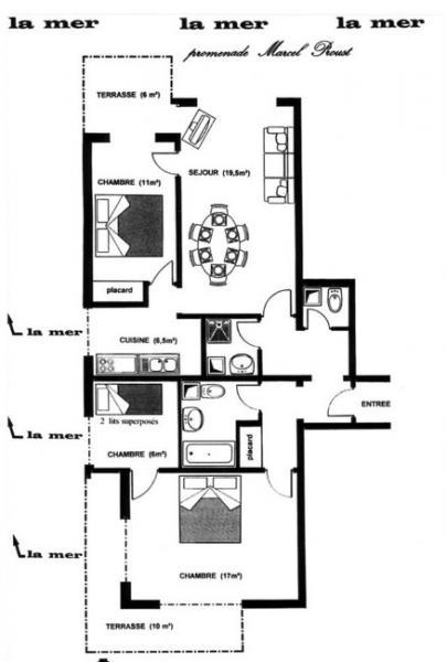 Planta do alojamento Locação Apartamentos 10782 Cabourg