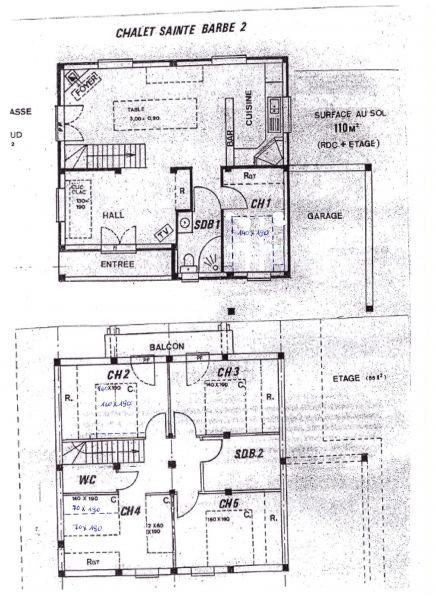 Planta do alojamento Locação Chalé 14859 Praz de Lys Sommand