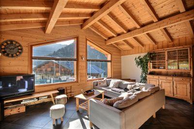 Sala de estar Locação Chalé 27503 Saint Jean d'Aulps- La Grande Terche