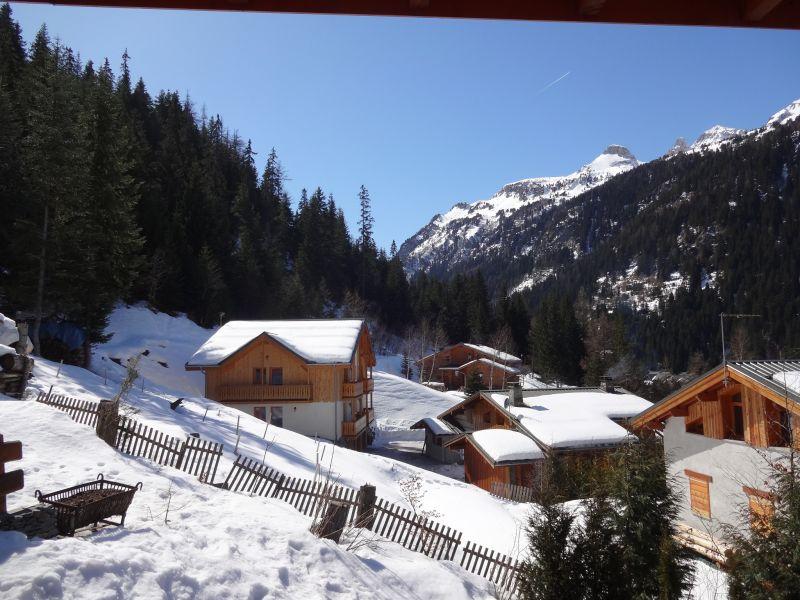 Vista do terraço Locação Chalé 3291 Valfréjus