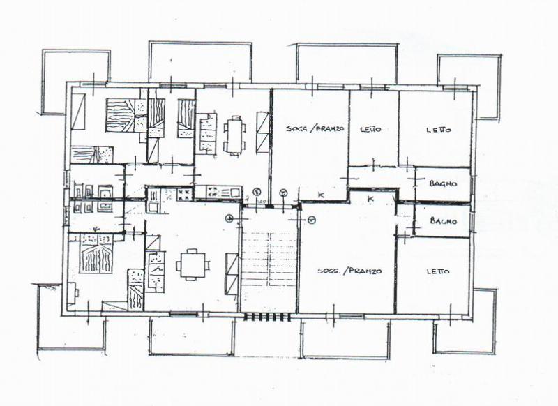 Planta do alojamento Locação Apartamentos 40527 Rimini