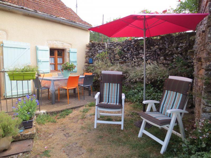 Vista do terraço Locação Casa de turismo rural/Casa de campo 51135 Saint-Cirq-Lapopie