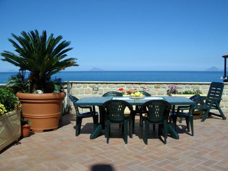 Vista do terraço Locação Vivenda 54358 Capo d'Orlando
