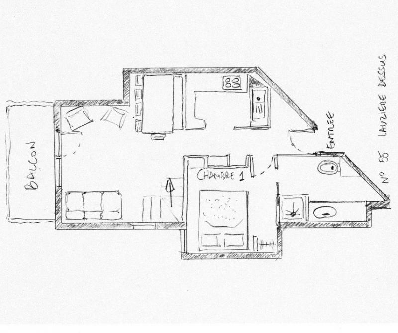 Planta do alojamento Locação Apartamentos 55934 Valmorel