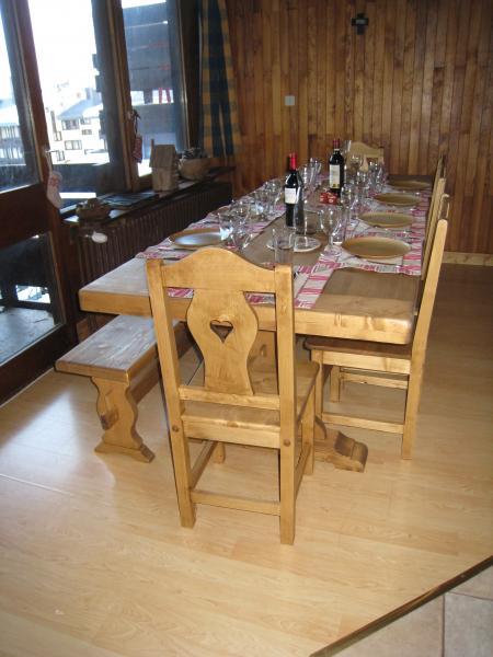 Sala de jantar Locação Apartamentos 60012 Tignes