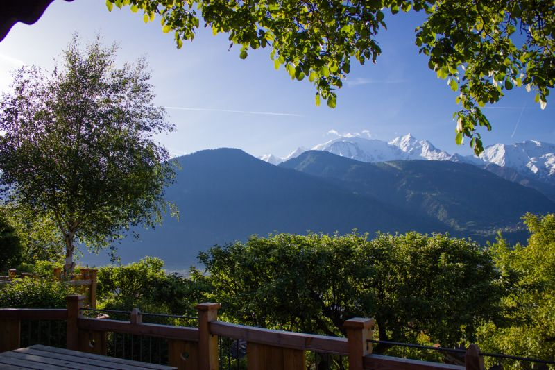 Vista do terraço Locação Chalé 651 Chamonix Mont-Blanc