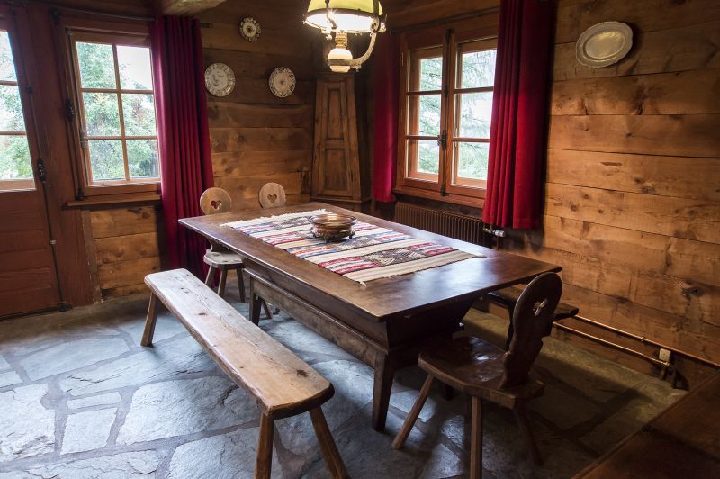 Sala de jantar Locação Chalé 706 Chamonix Mont-Blanc