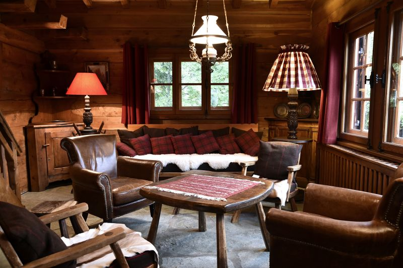 Sala de estar Locação Chalé 706 Chamonix Mont-Blanc