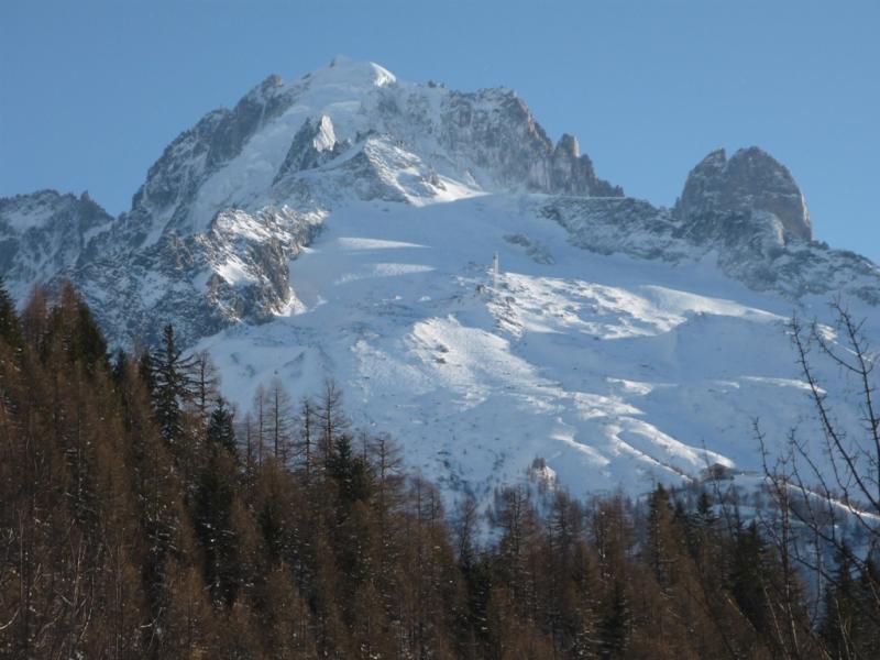 Vista do terraço Locação Chalé 706 Chamonix Mont-Blanc