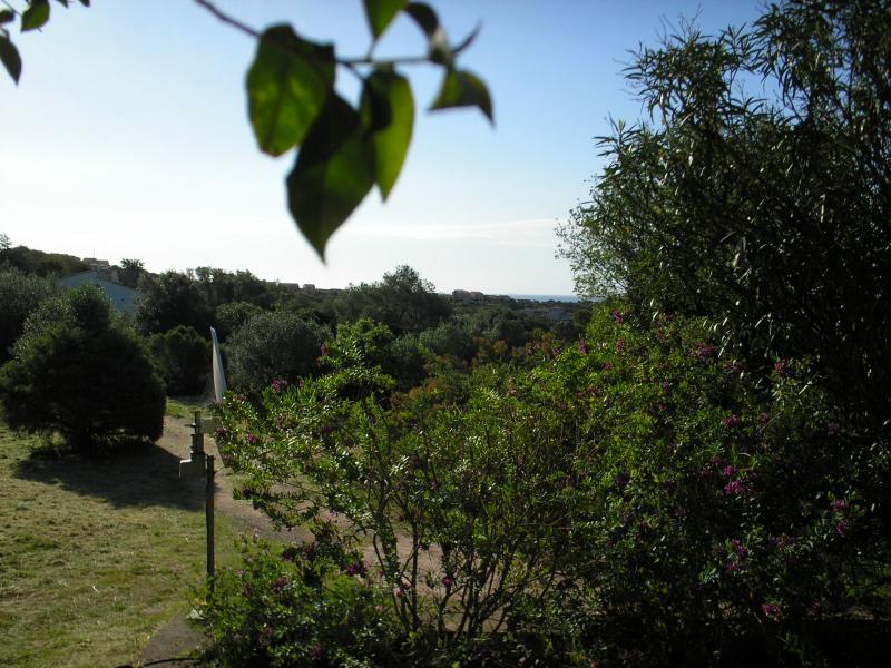 Vista do terraço Locação Apartamentos 7914 Porto Vecchio