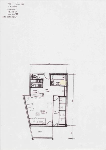 Planta do alojamento Locação Apartamentos 94431 Les Arcs