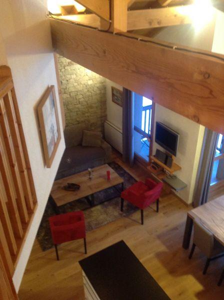 Sala de estar Locação Apartamentos 74411 Valloire
