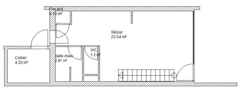 Planta do alojamento Locação Casa 92007 Pornic