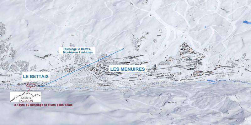 Vista dos arredores Locação Chalé 100576 Les Menuires