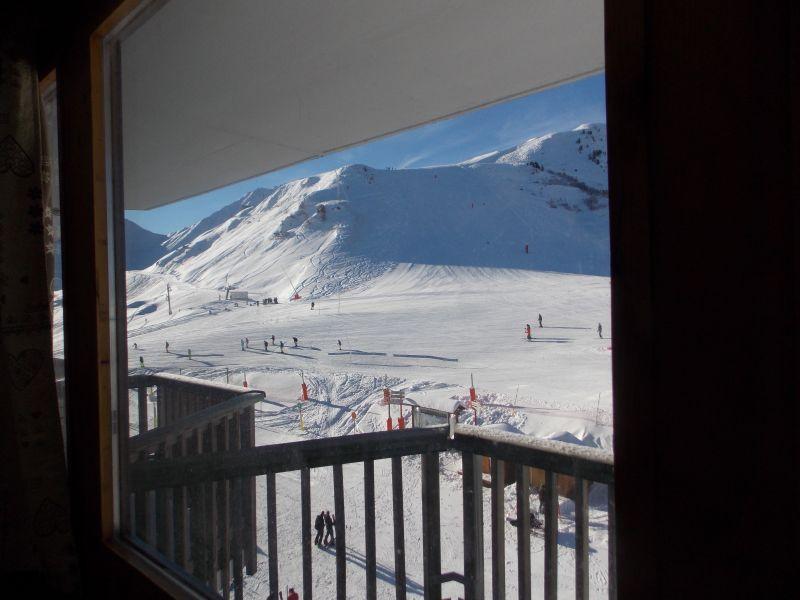Vista do terraço Locação Estúdio 79769 La Plagne
