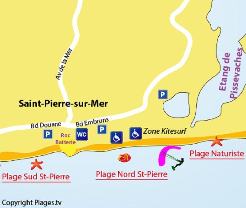 Mapa Locação Casa 109341 Saint Pierre la Mer