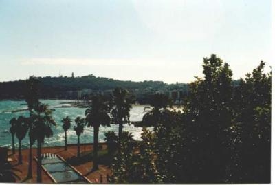 Vista do terraço Locação Estúdio 98215 Antibes