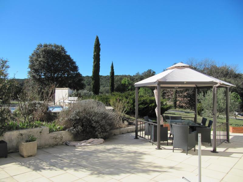 Vista do terraço Locação Vivenda 83534 Anduze