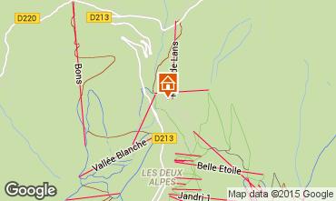 Mapa Les 2 Alpes Chalé 93861