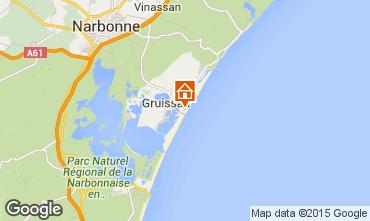 Mapa Gruissan-Plage Chalé 40372