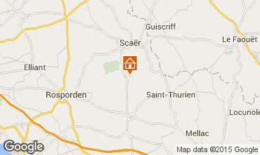 Mapa Concarneau Casa de turismo rural/Casa de campo 8816