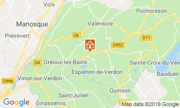 Mapa Gréoux Les Bains Casa de turismo rural/Casa de campo 111014