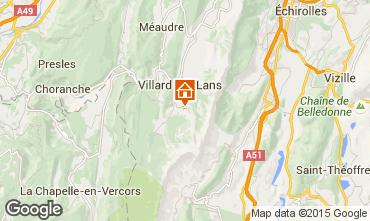 Mapa Villard de Lans - Corren�on en Vercors Est�dio 88085