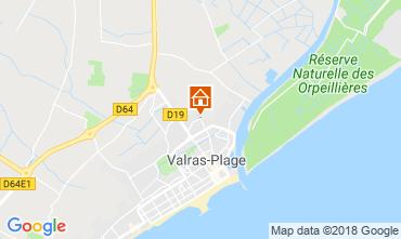 Mapa Valras-Praia Mobil Home 113228