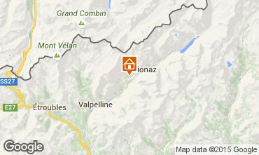 Mapa Bionaz Apartamentos 86799