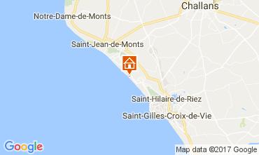 Mapa Saint Hilaire de Riez Apartamentos 110324