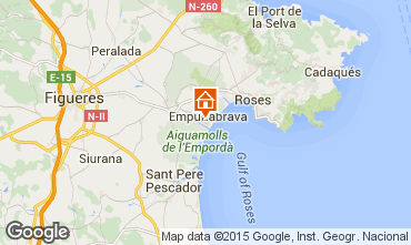 Mapa Empuriabrava Apartamentos 82822