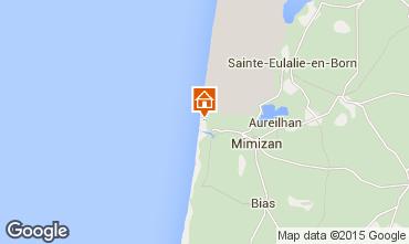 Mapa Mimizan Apartamentos 91109