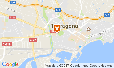 Mapa Tarragona Apartamentos 28545