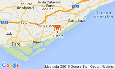 Mapa Fuseta Apartamentos 65636