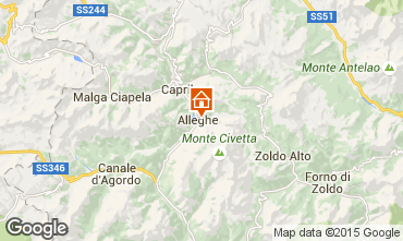 Mapa Alleghe Apartamentos 55732