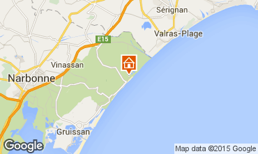 Mapa Saint Pierre la Mer Apartamentos 83265