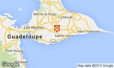 Mapa Sainte Anne (Guadalupe) Casa de turismo rural/Casa de campo 61341