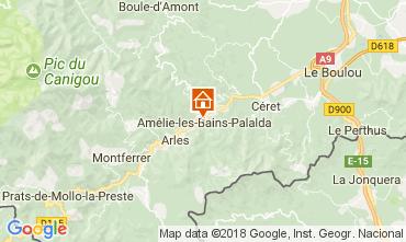 Mapa Amélie-Les-Bains Apartamentos 96364