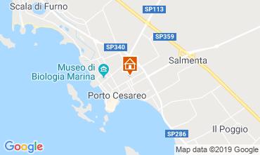 Mapa Porto Cesareo Apartamentos 96203